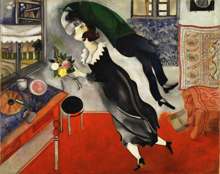 the kiss by chagall