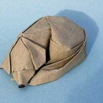 dreaming dog origami sculpture by Giang Dinh