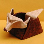 fox container origami model by Giang Dinh