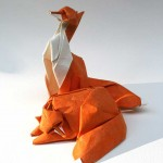 fox origami sculpture by Giang Dinh