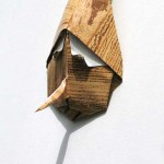 pinocchio face origami sculpture by Giang Dinh
