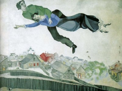 over the city by marc chagall