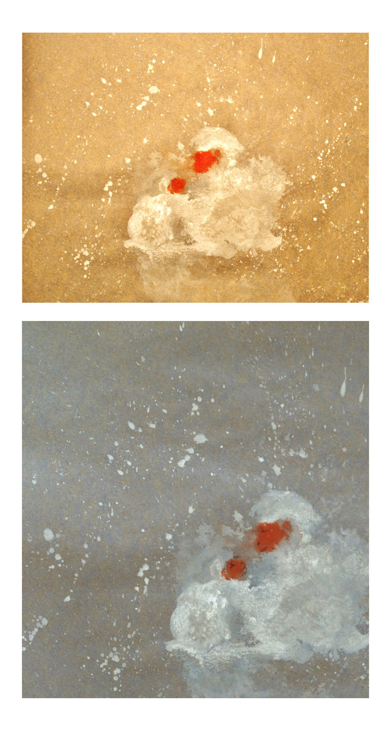 snow monkeys by artist Giang Dinh